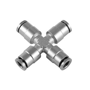 MPZA Brass Union Cross Push in Fitting