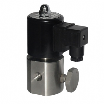 Small Orifice With Manual Control Solenoid Valve